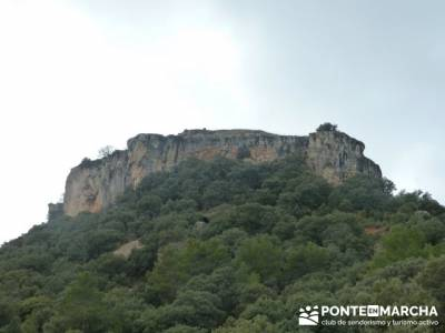 Senderismo Guadalajara - Monumento Natural Tetas de Viana. silla de felipe ii el escorial